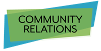 Logo for Community Relations department