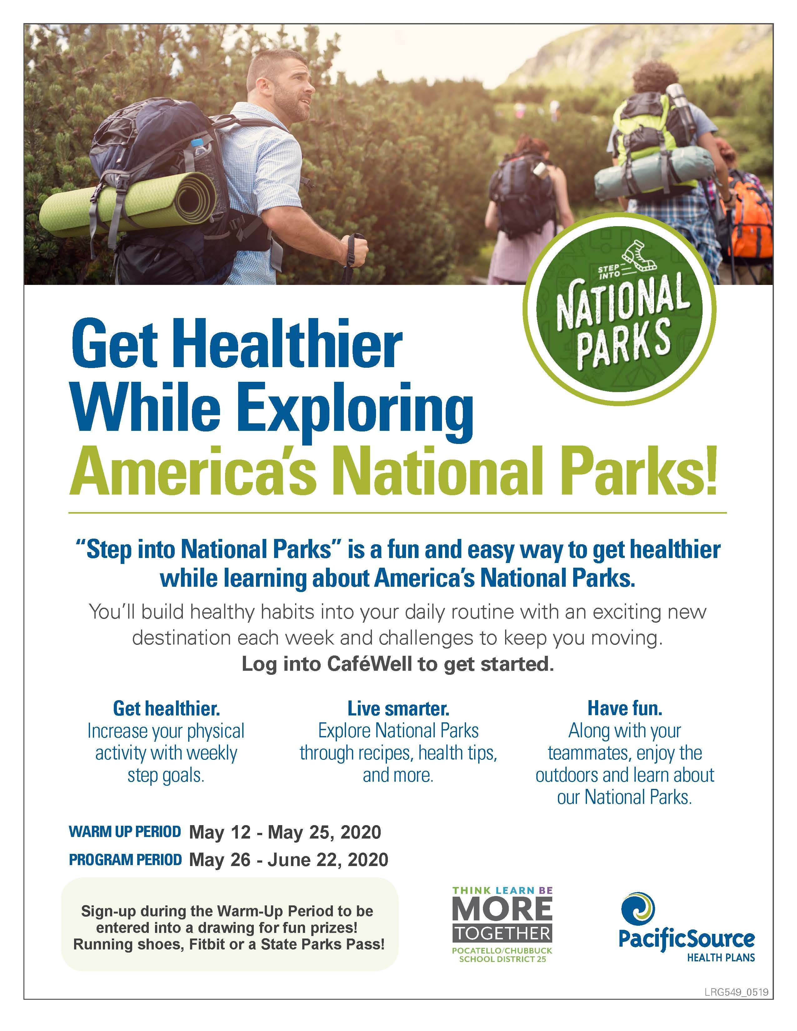 Step into National Parks Info Flyer.