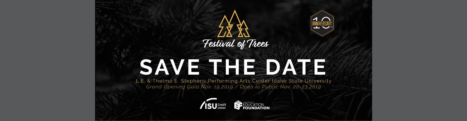 Save the Date Graphic for festival of trees