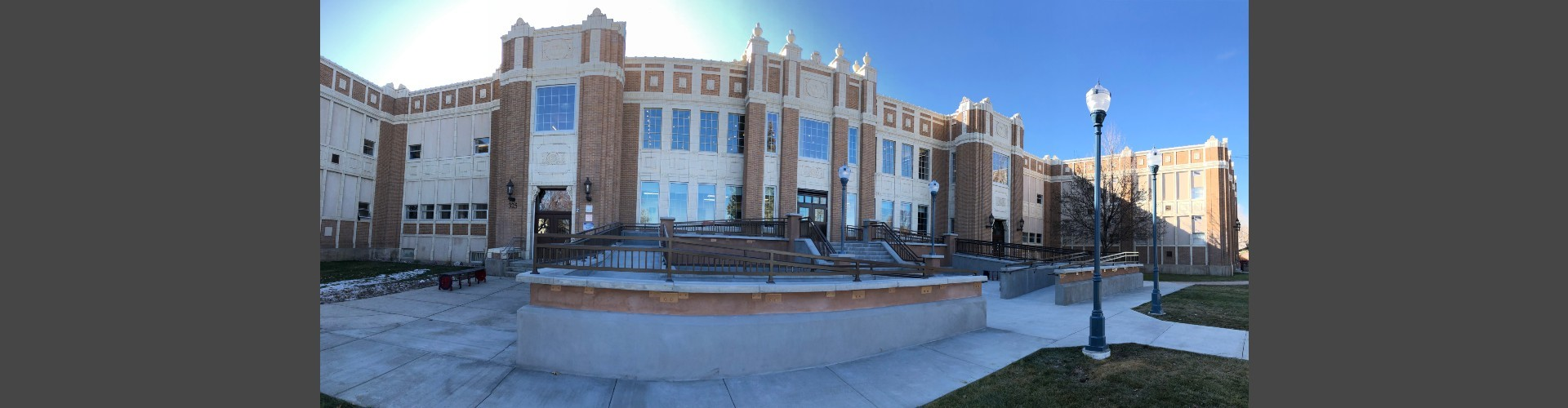 PHS front entrance pano