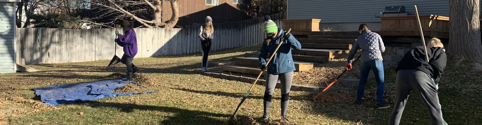 Our Jr Civitan Club raked leaves for the Rake-a-Difference fundraiser for the Pocatello Free Clinic
